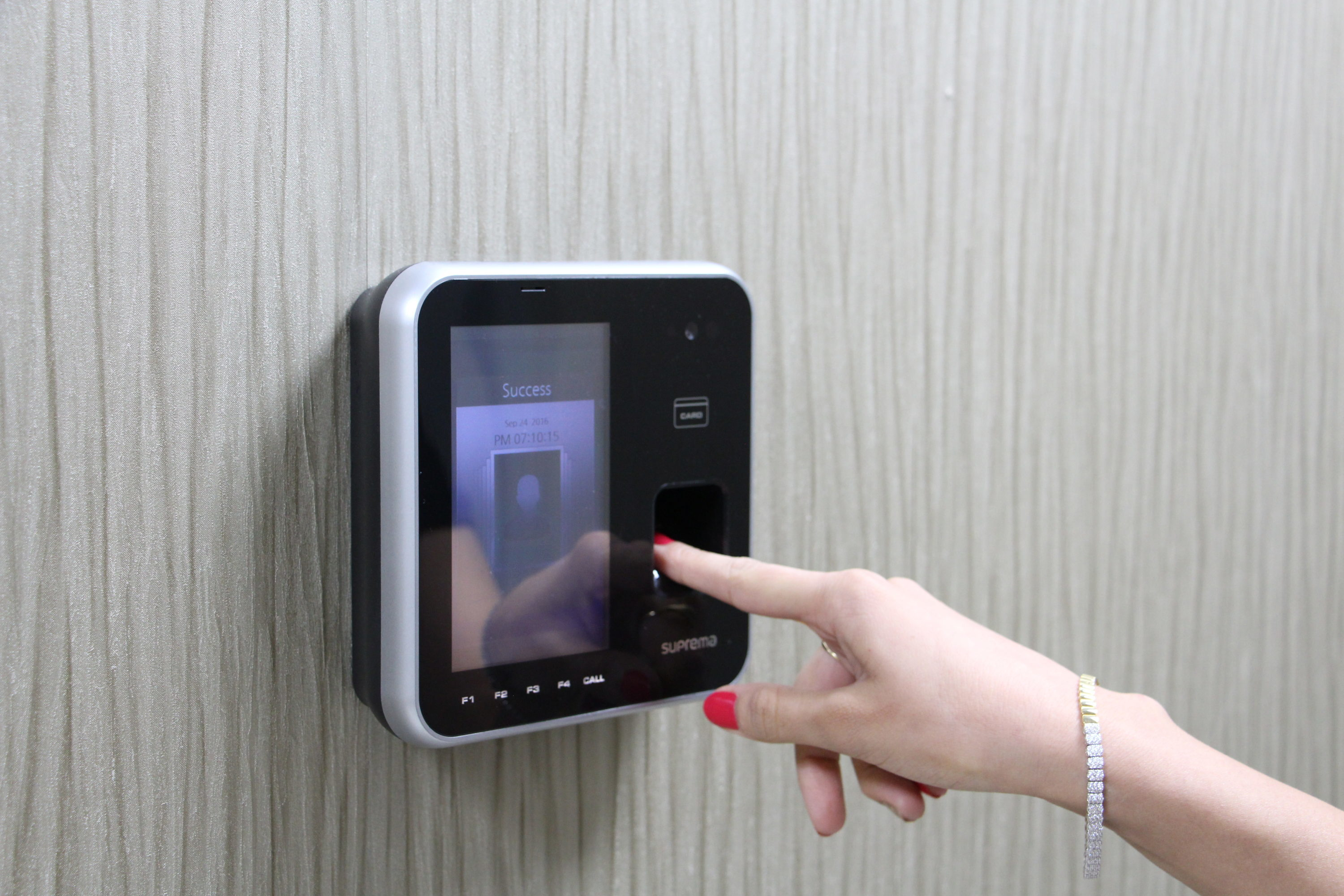 Biometric security - fingerprint scanner